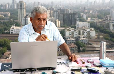 Naseeruddin Shah in a still from the movie _A Wednesday_  shown to user
